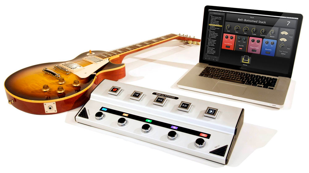 gio guitar interface and stomp pedal for mac apogee electronics. Black Bedroom Furniture Sets. Home Design Ideas