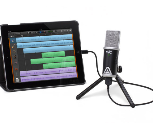 Apogee MiC with iPad works with GarageBand