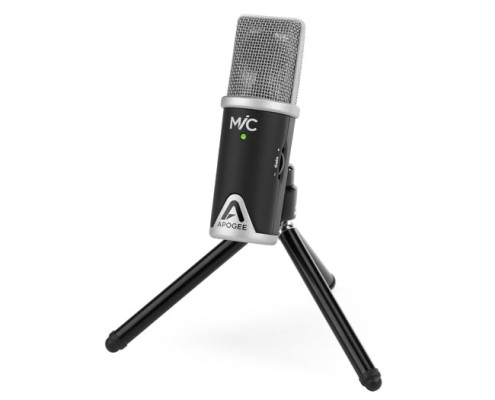 Apogee MiC on tripod stand