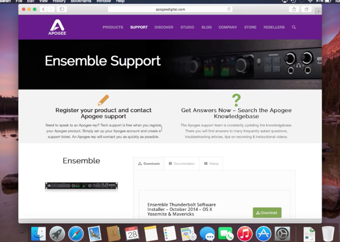 Apogee Ensemble - How to install Driver and Maestro Software