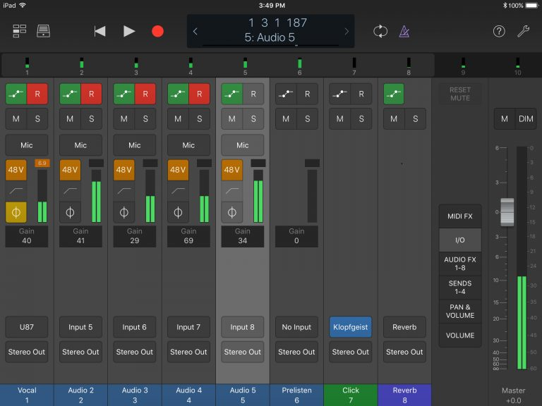 Control Apogee hardware and Logic Pro X from an iOS device